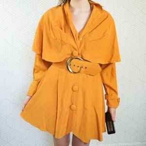 Vintage 80's Trench coat inspired mini Dress